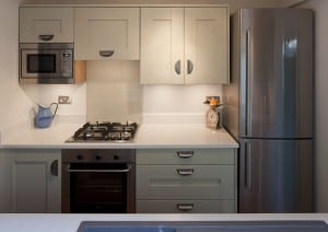 small fitted kitchen